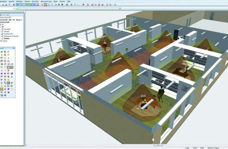 ESYLUX_Bueroetage_gerendert_Erfassungsbereiche_19-01-2012
